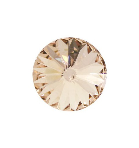 12MM Light Peach F (362) 1122 Rivoli Chaton SWAROVSKI ELEMENTS