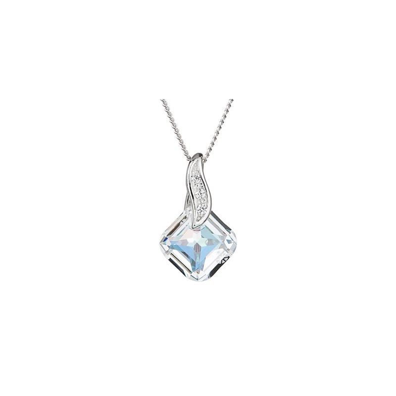 PRECIOSA Серебряная Подвеска с цепочкой Ag925/Rh668842 Crystal AB FEMININE CHARM STYLE