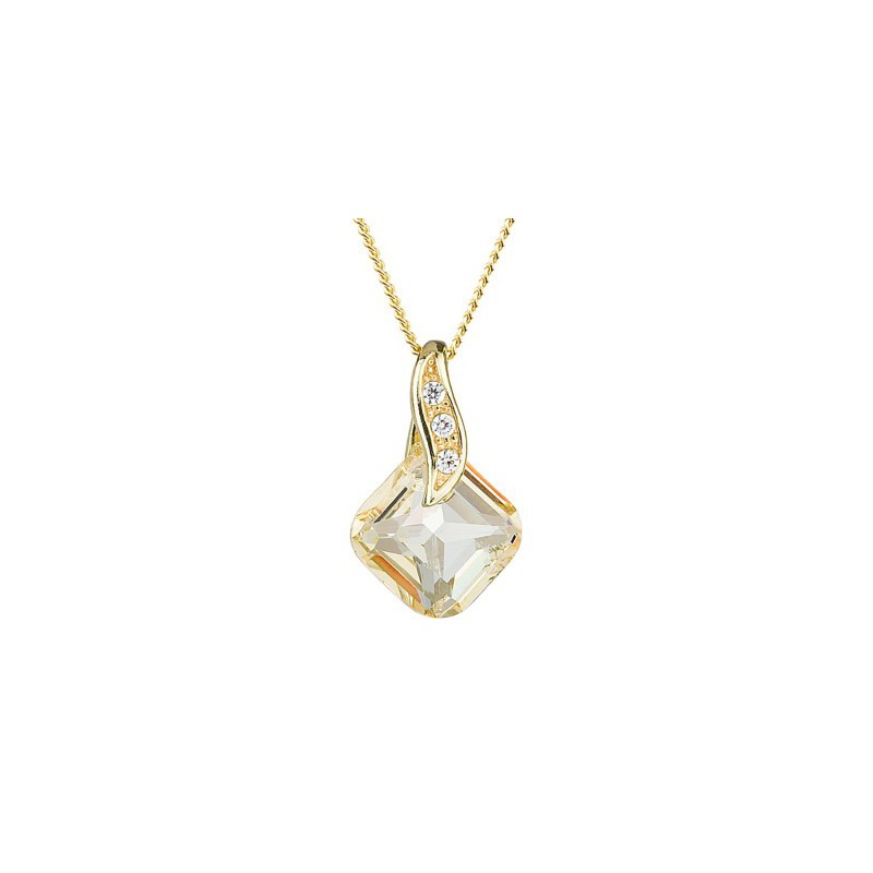 PRECIOSA Silver Gold Plated Pendant with chain Ag925/Au6688Y59 Blond Flare FEMININE CHARM STYLE
