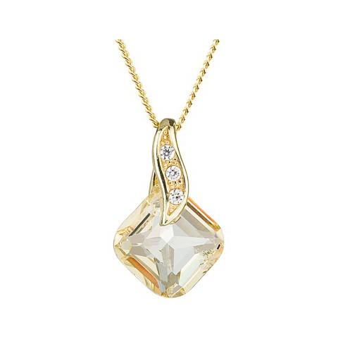 PRECIOSA Silver Gold Plated Pendant with chain Ag925/Au6688Y59 Blond Flare FEMININE CHARM STYLE