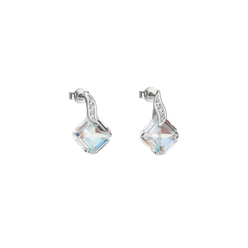 PRECIOSA Серебряные Сережки Ag925/Rh668942 Crystal AB FEMININE CHARM STYLE