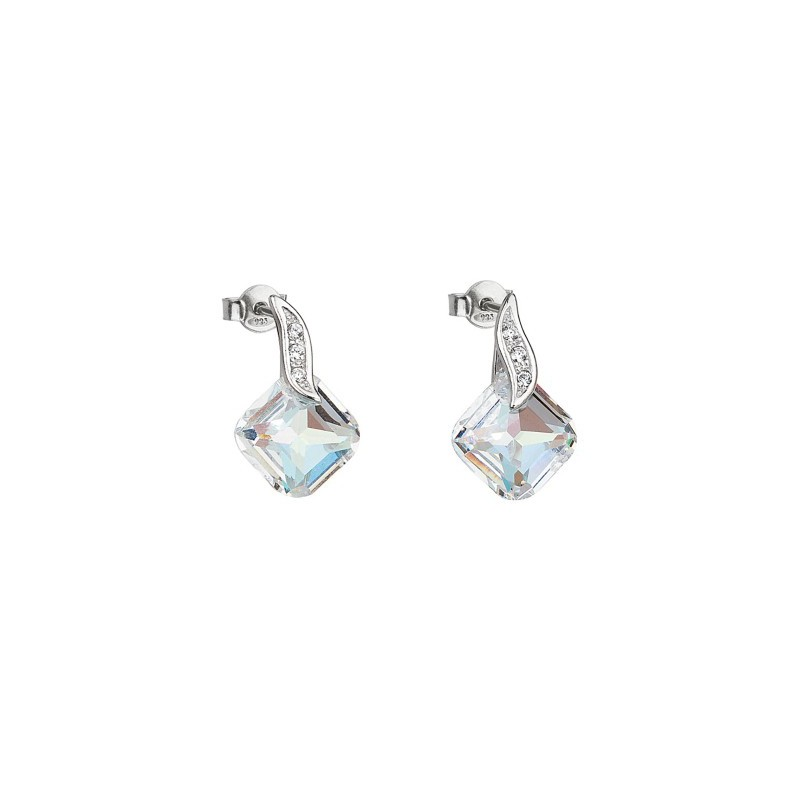 PRECIOSA Silver Earrings Ag925/Rh668942 Crystal AB FEMININE CHARM STYLE