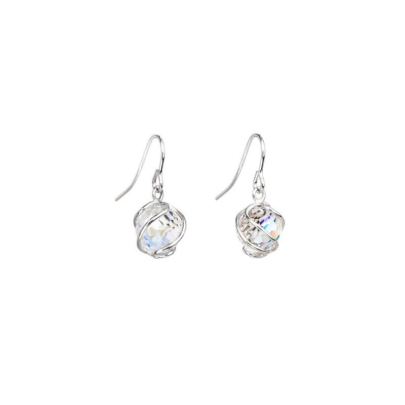 PRECIOSA Серебряные Сережки Ag925/Rh671642 Crystal AB Romantic BEADS STYLE