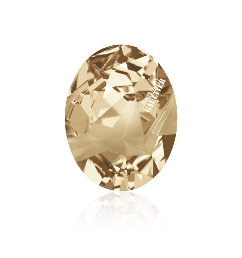 29x22.5mm Crystal Golden Shadow FT (001 GSHA) Kaputt Oval Fancy Stone 4920 Swarovski Elements