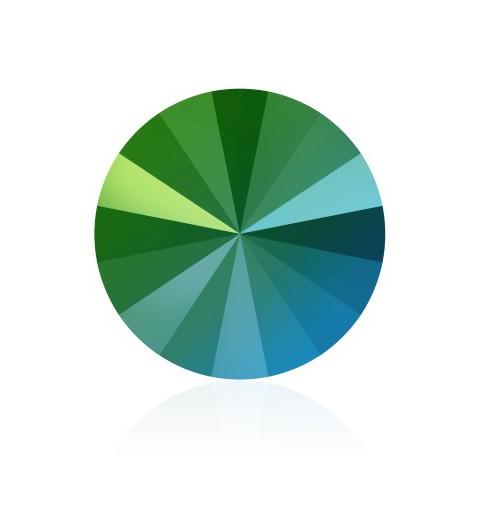 SS39 (~8.25mm) Crystal Scarabaeus Green F (001 SCGR) 1122 Rivoli SWAROVSKI ELEMENTS