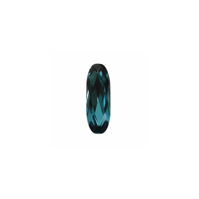 21x7mm Indicolite F (379) Long Classical Oval Fancy Stone 4161 Swarovski Elements