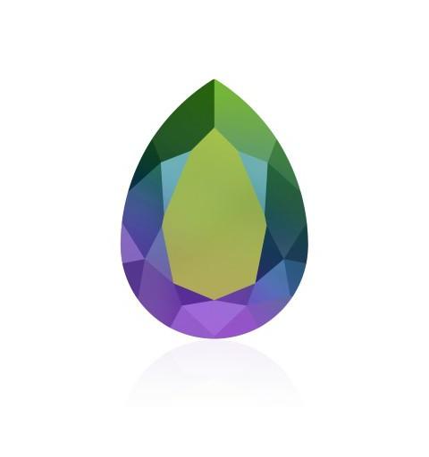 14x10mm Crystal Scarabaeus Green F (001 SCGR) Pear-Shaped Fancy Stone 4320 Swarovski Elements