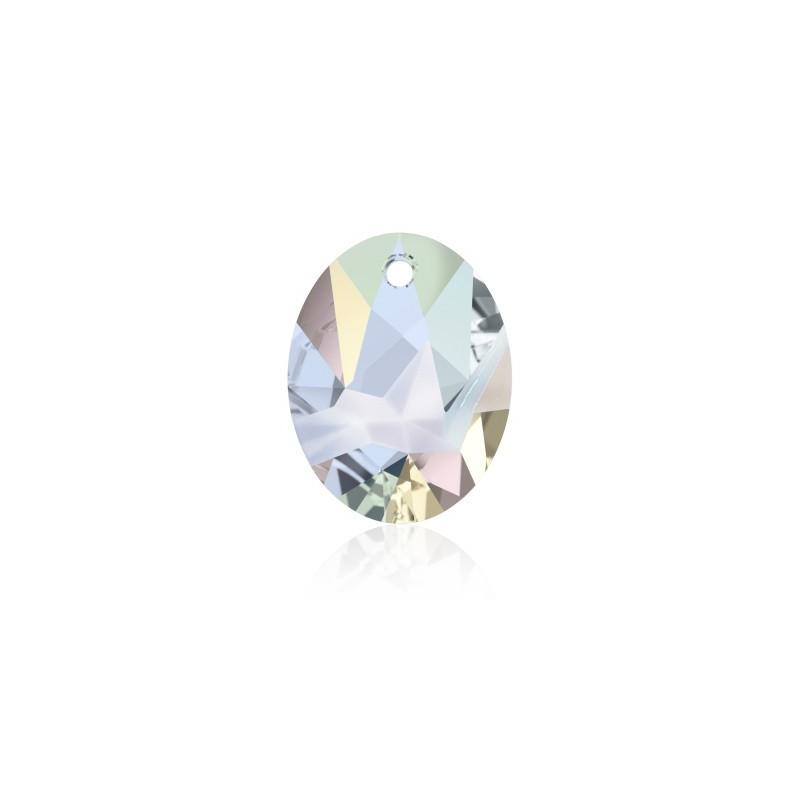 26MM Crystal AB (001 AB) Kaputt Oval Pendant 6911 SWAROVSKI ELEMENTS
