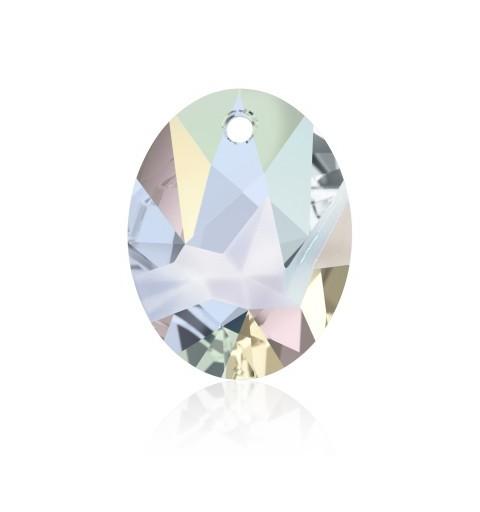 36MM Crystal AB (001 AB) Kaputt Oval Pendant 6911 SWAROVSKI ELEMENTS