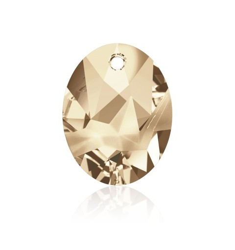 26MM Crystal Golden Shadow (001 GSHA) Kaputt Oval Pendant 6911 SWAROVSKI ELEMENTS