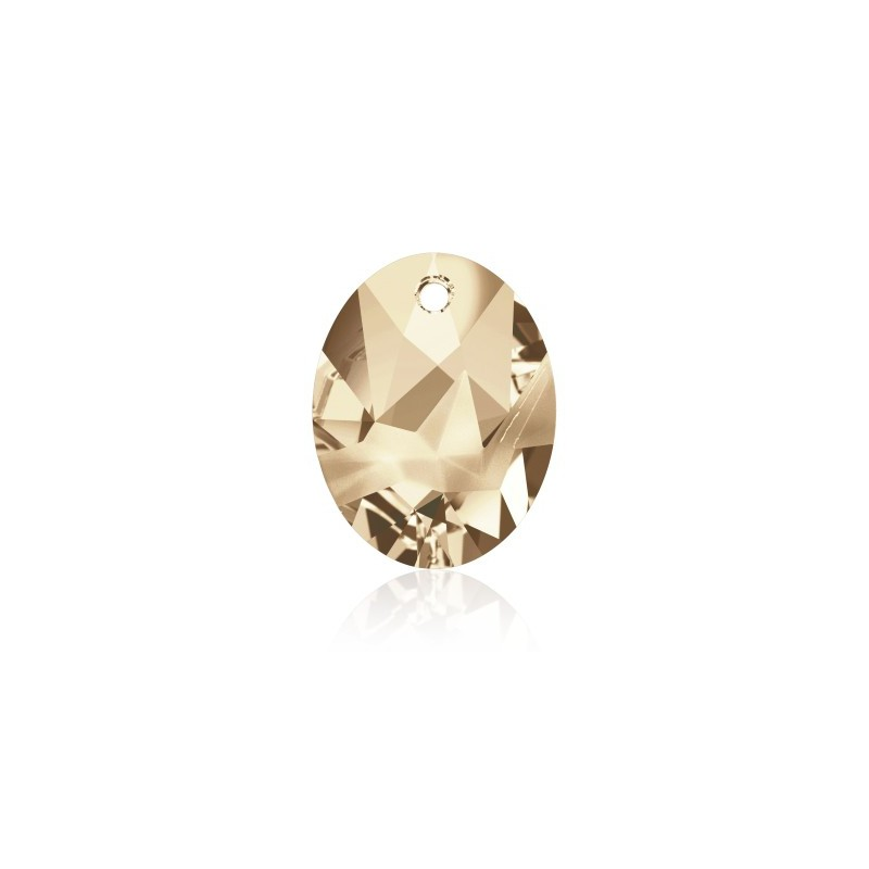 36MM Crystal Golden Shadow (001 GSHA) Kaputt Oval Pendant 6911 SWAROVSKI ELEMENTS