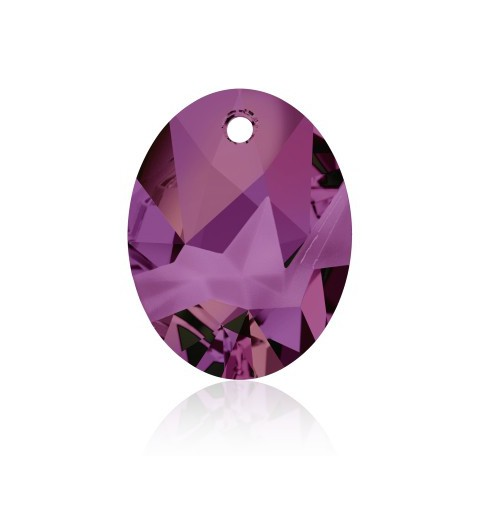 36MM Crystal Volcano P (001 VOL) Kaputt Oval Pendant 6911 SWAROVSKI ELEMENTS