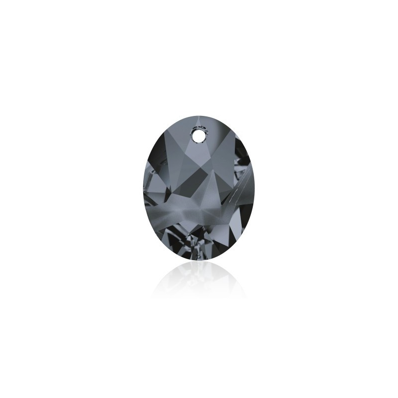 26MM Crystal Silver Night (001 SINI) Kaputt Oval Pendant 6911 SWAROVSKI ELEMENTS