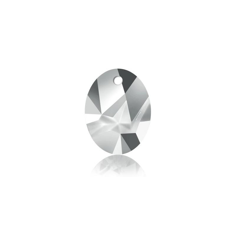 26MM Crystal Silver Night (001 SINI) Kaputt Oval Pendant 6911 SWAROVSKI ELEMENTS