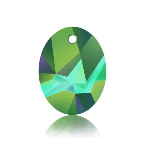 26MM Crystal Scarabaeus Green (001 SCGR) Kaputt Ovaal Ripats 6911 SWAROVSKI ELEMENTS
