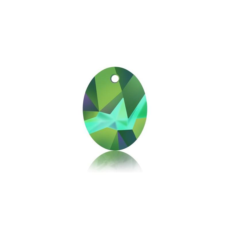 36MM Crystal Scarabaeus Green (001 SCGR) Kaputt Oval Pendant 6911 SWAROVSKI ELEMENTS