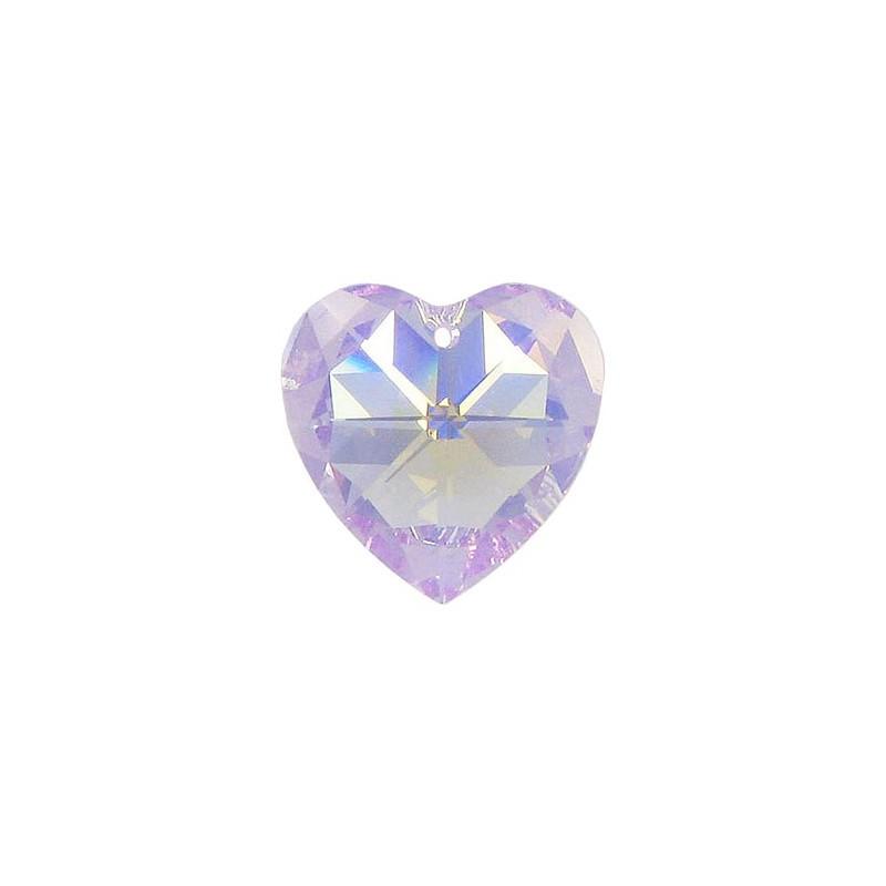 10.3x10MM Rose AB (209 AB) XILION Heart Pendants 6228 SWAROVSKI ELEMENTS