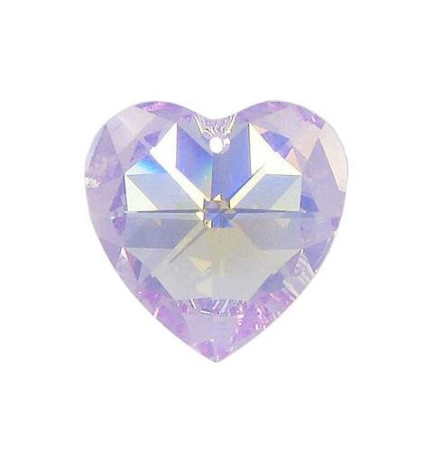 10.3x10MM Violet AB (371 AB) XILION Heart Pendants 6228 SWAROVSKI ELEMENTS