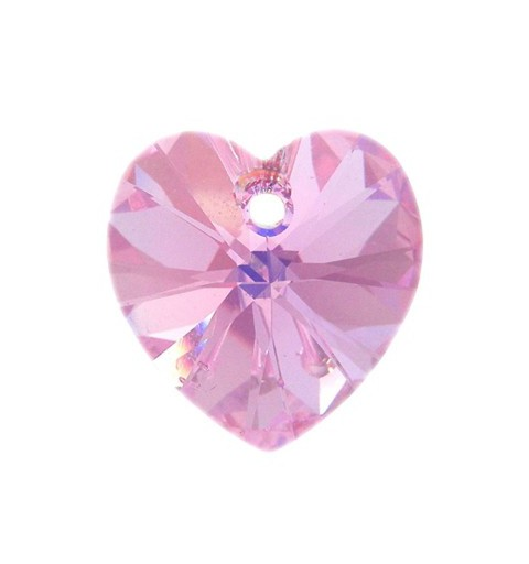 14.4x14MM Rose AB (209 AB) XILION Heart Pendants 6228 SWAROVSKI ELEMENTS