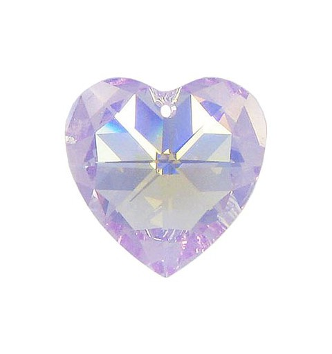 14.4x14MM Violet AB (371 AB) XILION Heart Pendants 6228 SWAROVSKI ELEMENTS