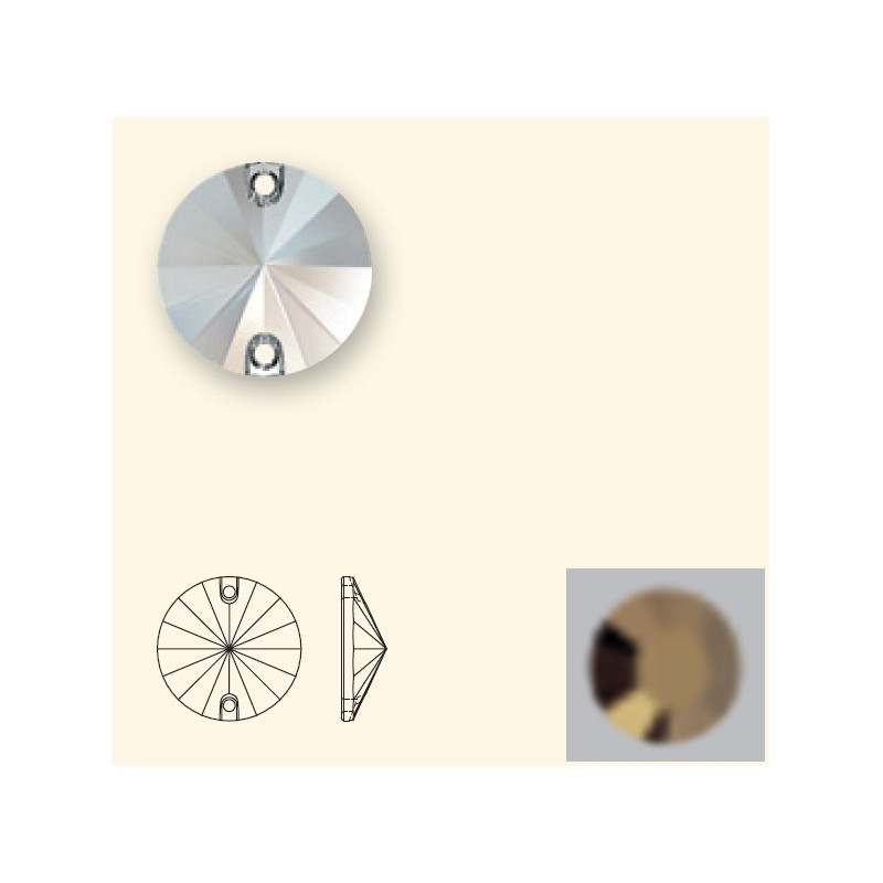 14MM Crystal Dorado F (001 DOR) 3200 Rivoli SWAROVSKI ELEMENTS