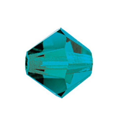 6MM Blue Zircon (60230) BiCone Rondell Preciosa Beads