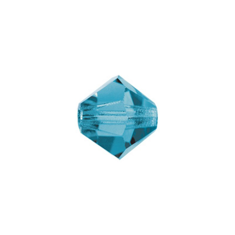 6MM Blue Zircon (60230) BiCone Rondell Preciosa Beads