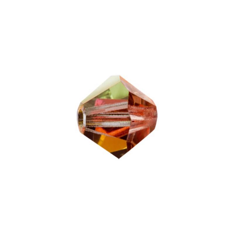 4MM Sun (90310) BiCone Rondell Preciosa Beads