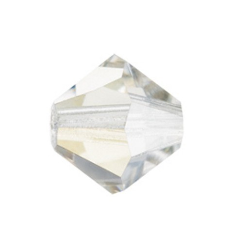 4MM Crystal Argent Flare (00030 AgF) BiCone Rondell Preciosa Beads