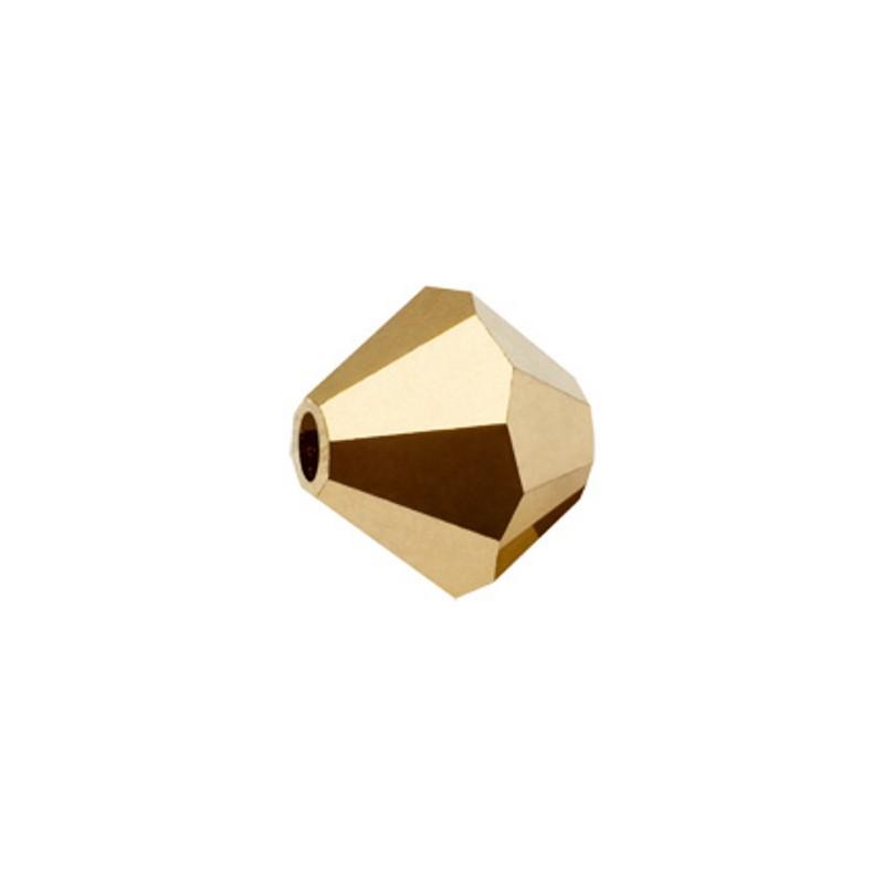 3MM Crystal Argent Flare (00030 AgF) BiCone Rondell Preciosa бусины