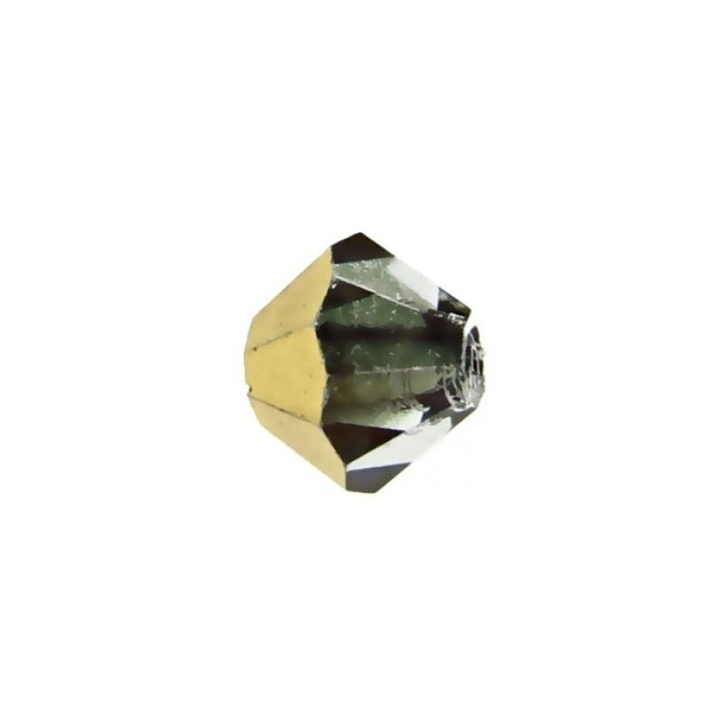 6MM Crystal Aurum Half (00030 AurH) BiCone Rondell Preciosa Beads