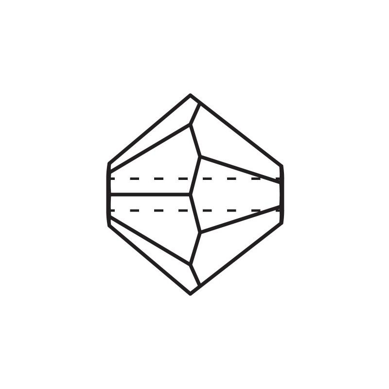 6MM Crystal Aurum Full (00030 AurF) BiCone Rondell Preciosa Beads
