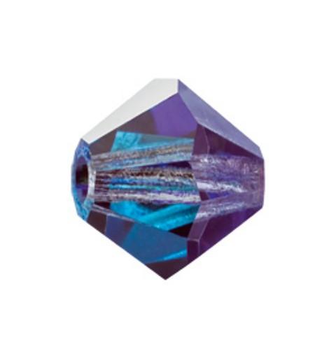 4MM Crystal Bermuda Blue (00030 BBl) BiCone Rondell Preciosa helmes