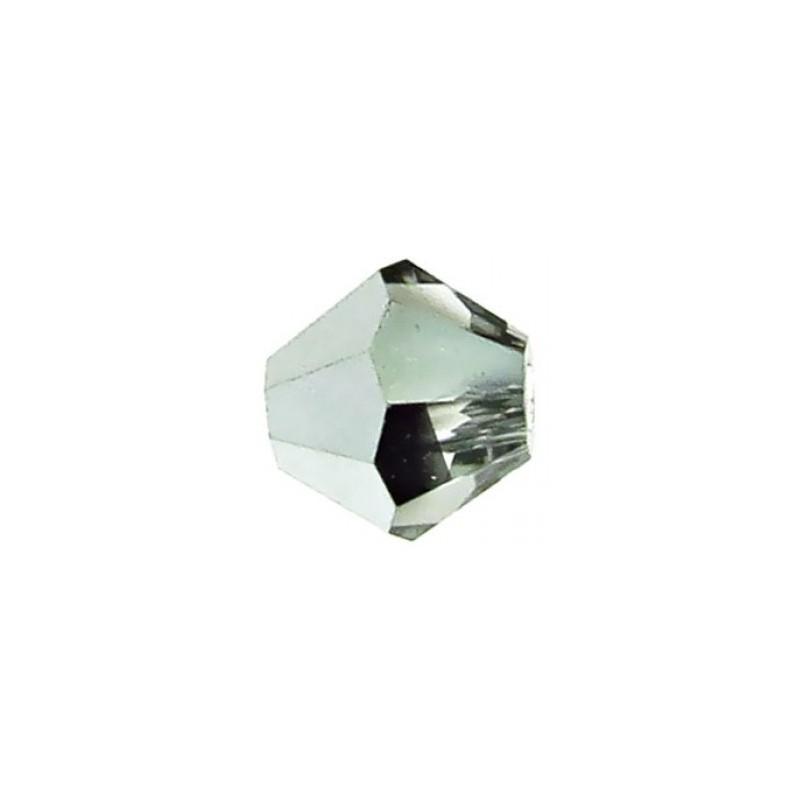 4MM Crystal Labrador Half (00030 LabH) BiCone Rondell Preciosa Beads