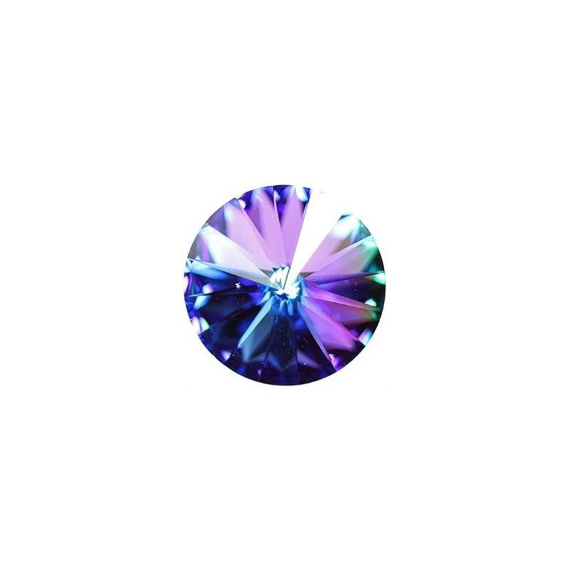 18MM Crystal Bermuda Blue F (00030 BBl) Rivoli Czech Preciosa Stone