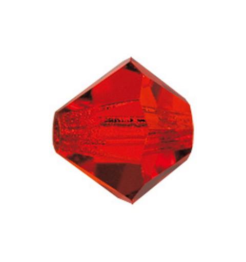 4MM Light Siam (90070) Bi-Cone Rondell Preciosa бусины
