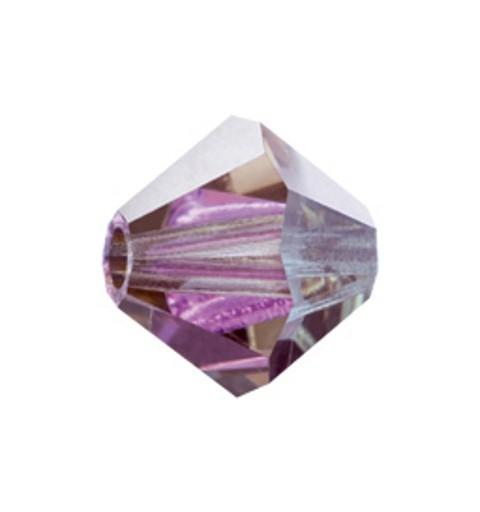 6MM Crystal Labrador Half (00030 LabH) BiCone Rondell Preciosa Beads