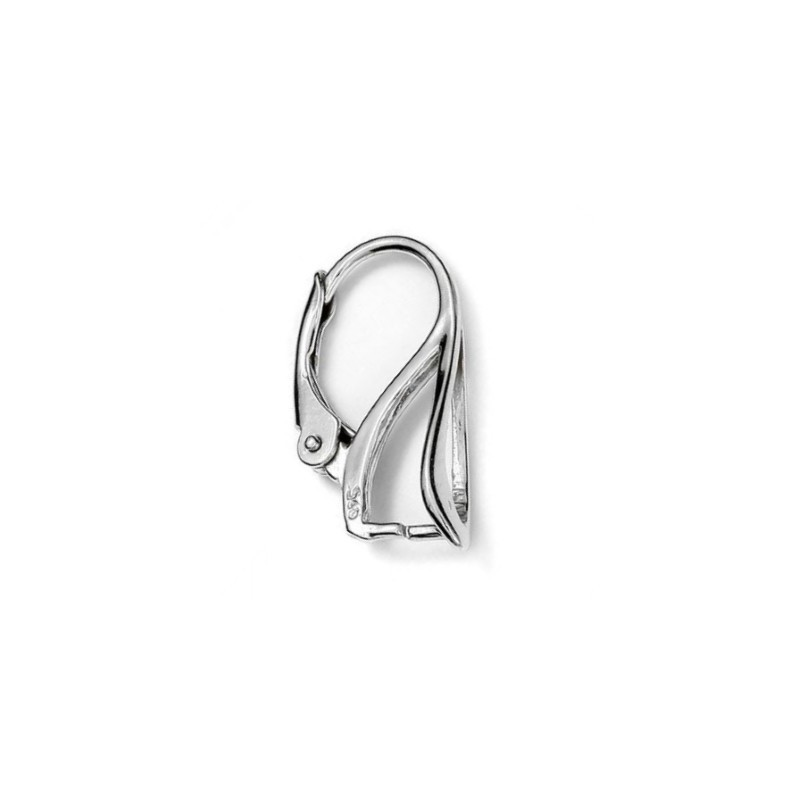 STERLING SILVER 925 LEVERBACK EARRING HOOK 20x14MM FOR SWAROVSKI