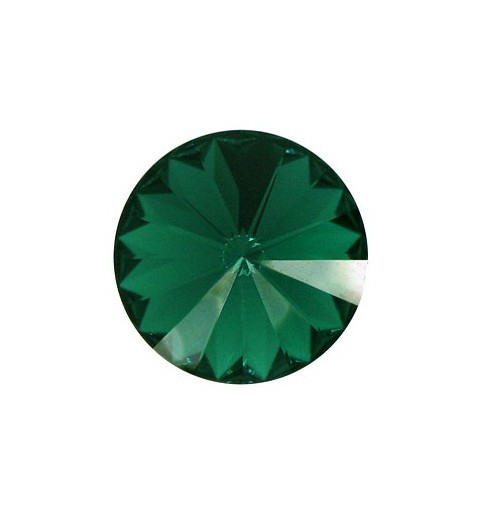 SS47(~10.7mm) Emerald F (205) 1122 Rivoli Chaton SWAROVSKI ELEMENTS