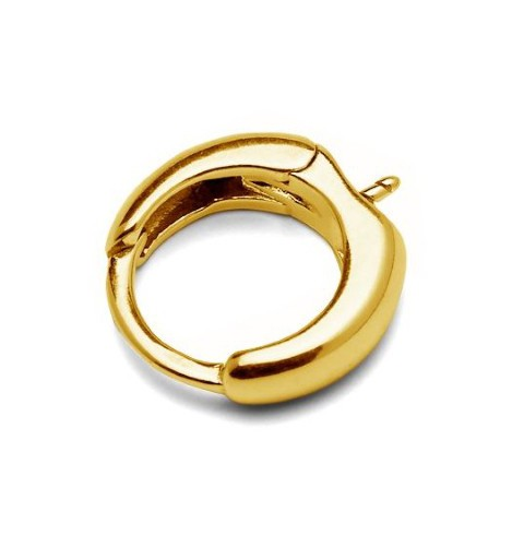 STERLING SILVER 925 Gold Plated FINDING EARRING WITH STUD 15.6MM