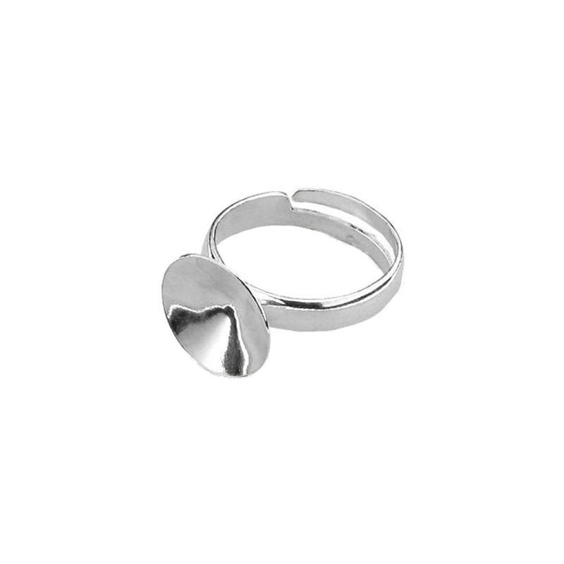 Sterling Silver regulating ring with setting for rivoli 1122 14mm min. inside size 57 (d. approx. 18mm)