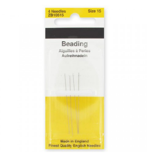 Beading Needle 44mm Size15 ZB10515 John James
