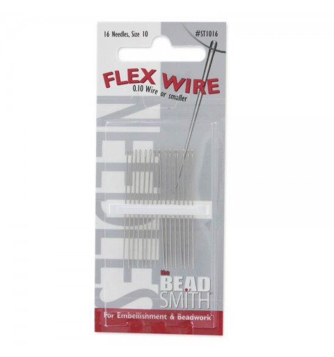 Beading Needle 40mm Size10 ST1016 Flex Wire