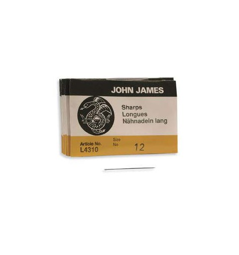 Beading Needle 30mm Size12 L4310 John James