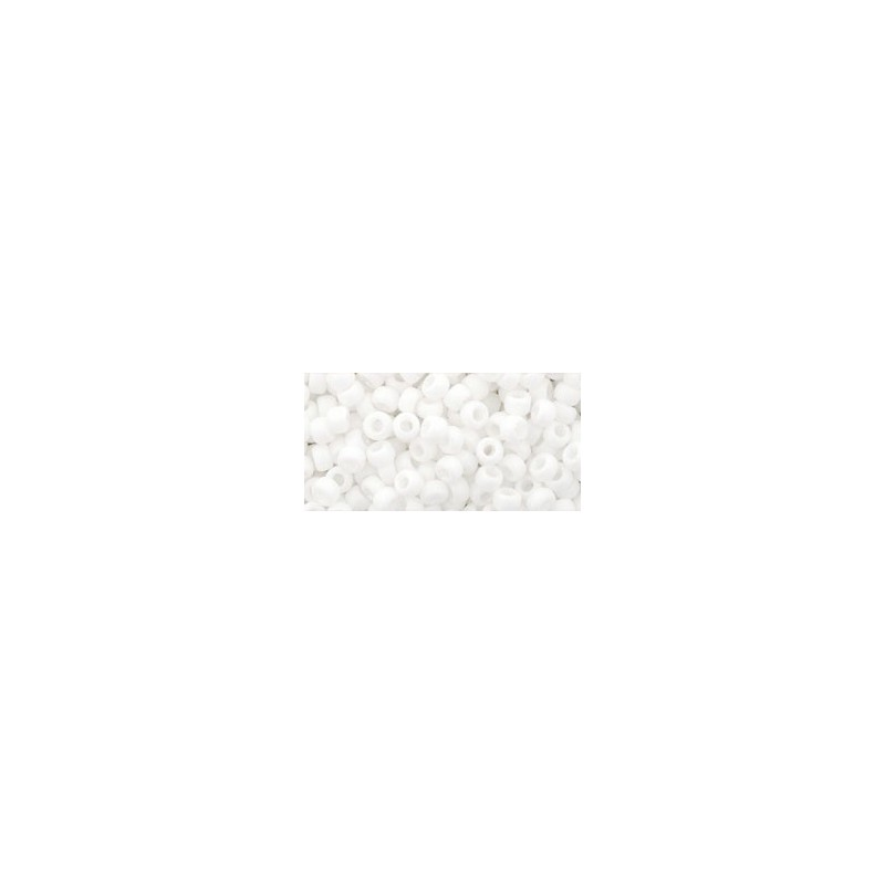 TR-08-761 Matte-Color Opaque White TOHO SEED BEADS