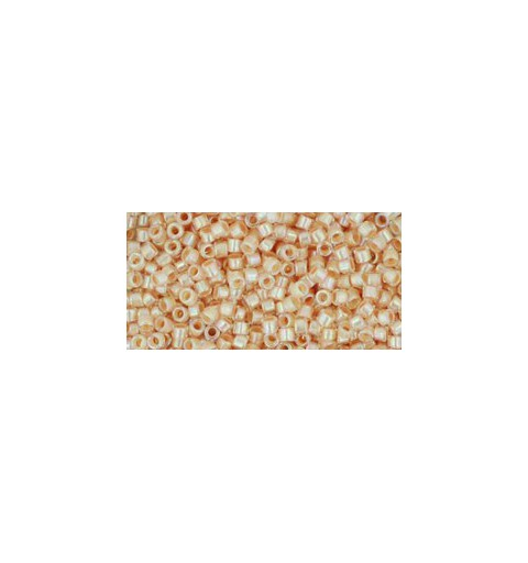 TT-01-794 Inside-Color Rainbow Crystal/Apricot Lined TOHO Treasures Seed Beads