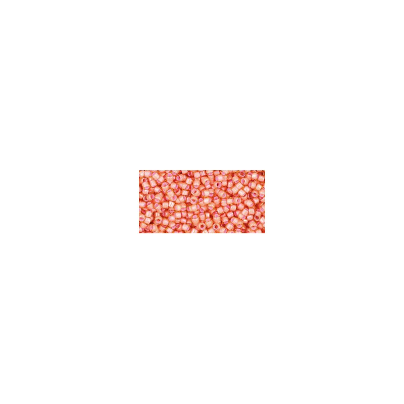 TT-11-924 Inside-Color Jonquil/Peach Lined TOHO Treasures Seed Beads