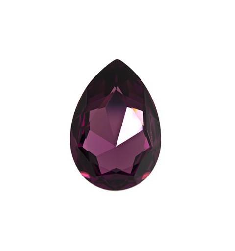 30x20mm Amethyst F (204) Pear-Shaped Fancy Stone 4327 Swarovski Elements