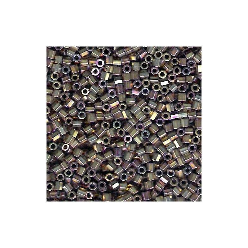 DBC-0022 Metallic Dark Bronze Miyuki DELICA Hex Cut 11/0 seemnehelmed