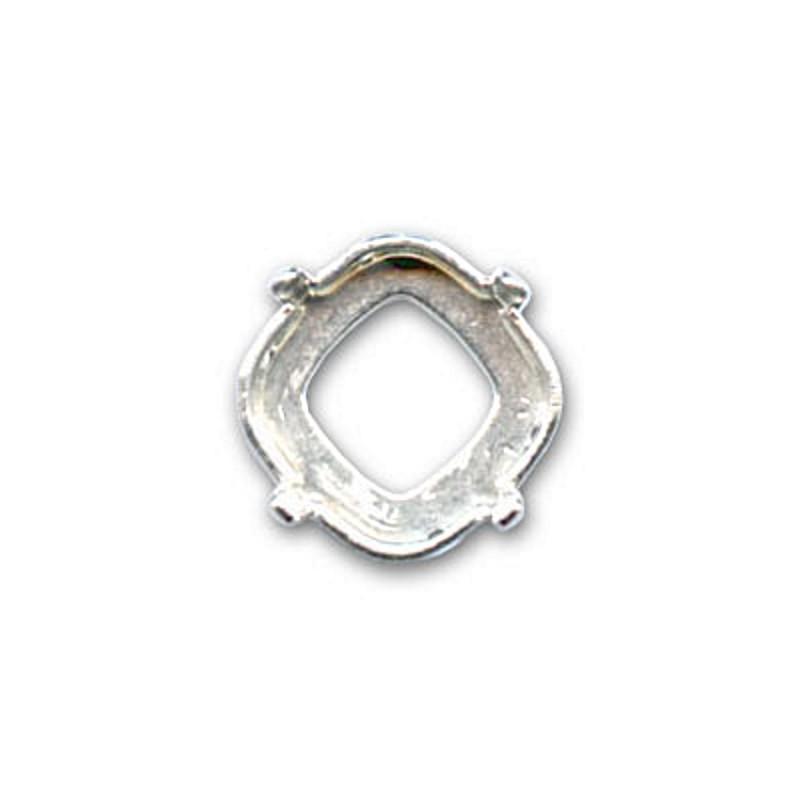 12mm Оправа для Сваровски Риволи 1122 цвет Серебра (4 отвестия, 4 зажима)